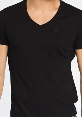 T-shirt koszulka Hilfiger Denim Tommy czarna
