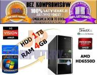 KOMPUTER QUAD CORE 4x3GHz 4GB 1000GB ATI HD6550D