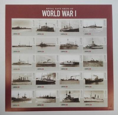 Liberia 2015** SH.1536. Royal Navy Ships MNH 18;5