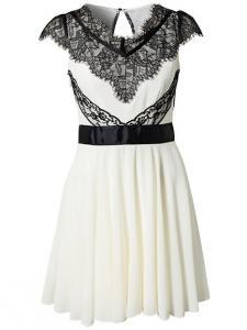 ee3b0c6ded Asos Sukienka nowa biała koronka czarna %% XS - 5277389811 ...