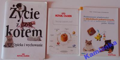 3 książeczki o żywieniu zwierząt /KOTY/