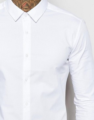 koszula męska ex Asos slim fit XXS biała