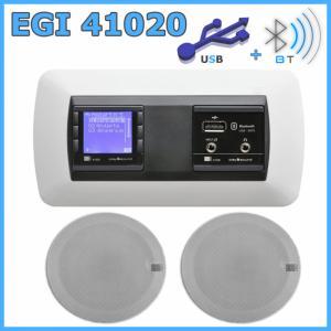 Egi Radio Do łazienki Kuchni Bluetooth Usb Aux