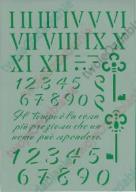 SZABLON CYFRY RZYMSKIE I ARABSKIE 21cmX29cm