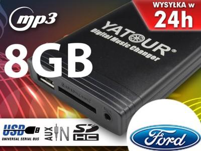ZMIENIARKA MP3 SD USB FORD MONDEO FUSION +8GB NEW