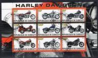 AT1584 Djibuti blok kas samochody Harley