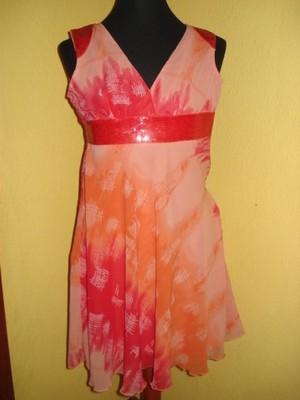 032ed88155 B.P.C. pomarańczowa sukienka z cekinami 34 - 6871744909 - oficjalne ...