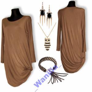 481a5a93b6 Wanilia~ Sukienka Tunika z Pętlą Oversize Kolory - 2950133452 ...