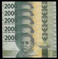 INDONESIA 2000 RUPI 2017 UNC P-NEW 10 BANKNOTÓW