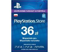 KARTA PLAYSTATION NETWORK PSN 36 ZŁ AUTOMAT 24/7