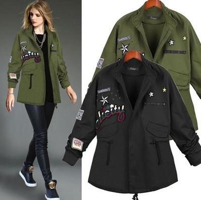 czarna wojskowa kurtka damska