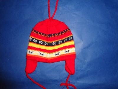 czapka na zime 74-80 stan bdb
