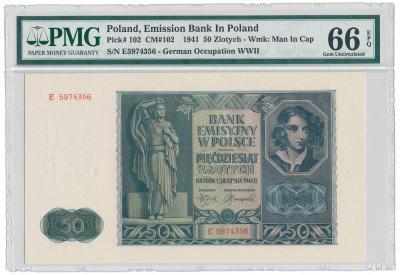 2052. 50 zł 1941 - PMG 66