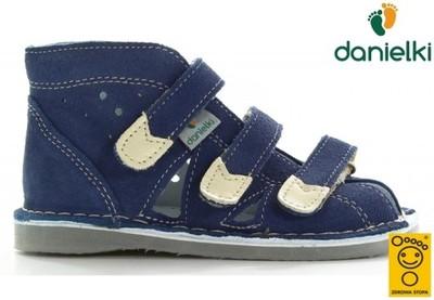 Kapcie DANIELKI buty profilaktyczne S104 jean, 23
