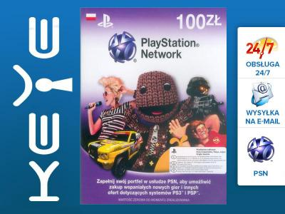 PSN 100 ZŁ PlayStation Network KARTA PREPAID PS4