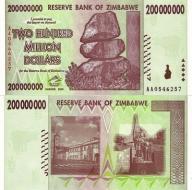 # ZIMBABWE - 200000000 DOLARÓW 2008 -P81- UNC s.AA