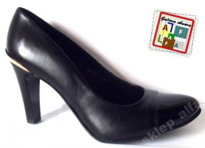 daa02f1e czarne buty półbuty czółenka Marco Shoes 2282 r.40 - 3496010993 ...