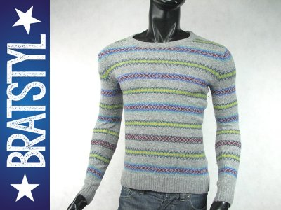 5fca96712ded7c PULL AND BEAR __ hipster wełniany sweter __ S/M - 6430151767 ...