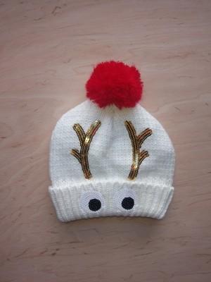 C&A urocza czapka z pomponem renifer 158 cm