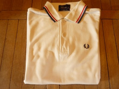Fred Perry białe polo XS