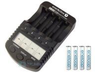 Ładowarka NC-1000 PLUS + Eneloop AAA 4 x 750 mAh