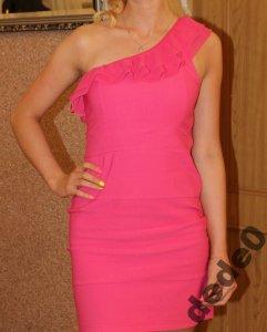 c38e4cb273 Sukienka różowa XS idealna na kazda okazje !! - 6203391093 ...