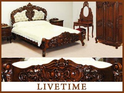 Sypialnia Rokoko Barok Zestaw łóżko 160x200 Inne