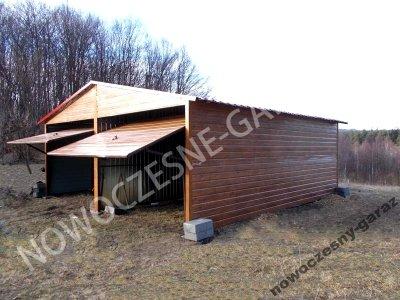 Garaże Blaszane Garaż Blaszany Drewnopodobny 5x6gd 6055492433