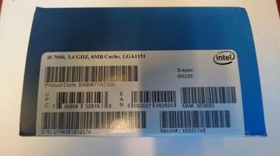 Intel Core i5-7500 X4/65W 3.4/3.8G 6MB/1151 Nowy