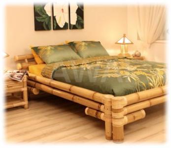 łóżko Bambusowe łóżka Bambus 220x200 Cm Awai