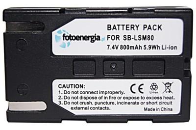 Batería SB-LSM80 SBLSM80 800mAh para Samsung SC-D365 VP-D353 VP-D6550