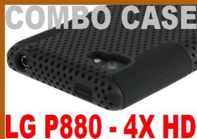 COMBO MESH CASE - ETUI DO LG P880 4X HD + FOLIA