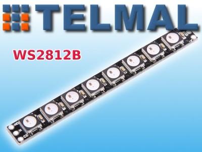 Moduł NEOPIXEL WS2812B listwa 8x LED RGB WS2812