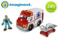 FISHER PRICE IMAGINEXT KARETKA AMBULANS 24h