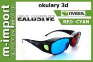 OKULARY 3D RED CYAN ANAGLIFY 3D NVIDIA EXCLUSIV