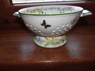 Roślinne sitko ceramiczne ,cedzak,botanica