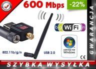 KARTA SIECIOWA ADAPTER WIFI USB FERGUSON 600 Mbps!