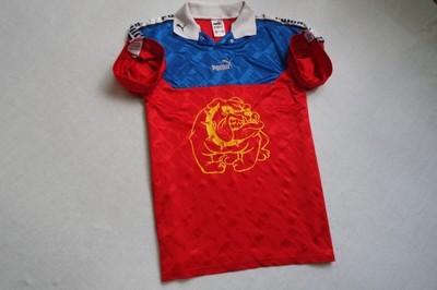 PUMA koszulka polo sportowa czerwona logowana____M