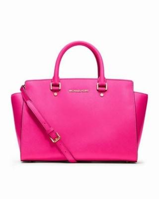 1c449fe85274a MICHAEL KORS SELMA różowa torebka do ręki pasek - 6847666112 ...