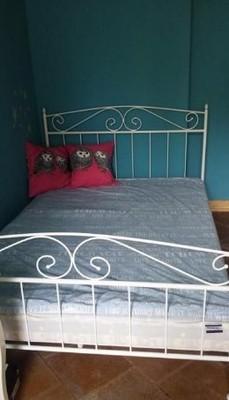 łóżko Metalowe Kute Z Materacem 14 M X 2m 6853064189
