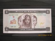 163.  Banknot Erytrea 1 Nakfa UNC