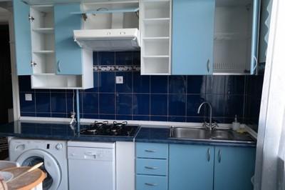 Biało Błękitne Meble Kuchenne Góra Dół 3m Kuchnia