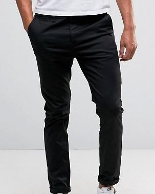 mk16 spodnie męskie chinosy czarne slim W32 L30