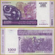 -- MADAGASKAR 1000 ARIARY 2004 B-H P89b UNC