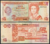 MAX - BELIZE 5 Dollars 1990 r. # P53b # F/VF