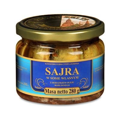 Sajra w sosie własnym z dodatkiem oleju 280 g