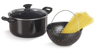 Garnek do gotowania makaronu z sitkiem na parze 6L