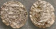 2845. Węgry XVI w, denar, Patrona Hungariae