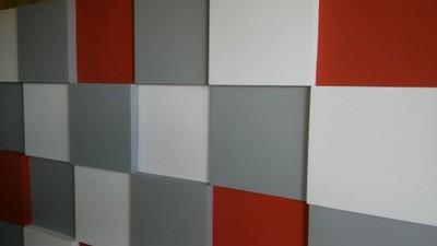 Panele Gipsowe Dekoracyjne 3d Kwadraty 25cm25cm