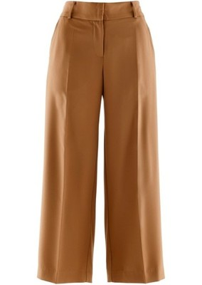 Szerokie spodnie 78 brązowy 54 7XL 925505